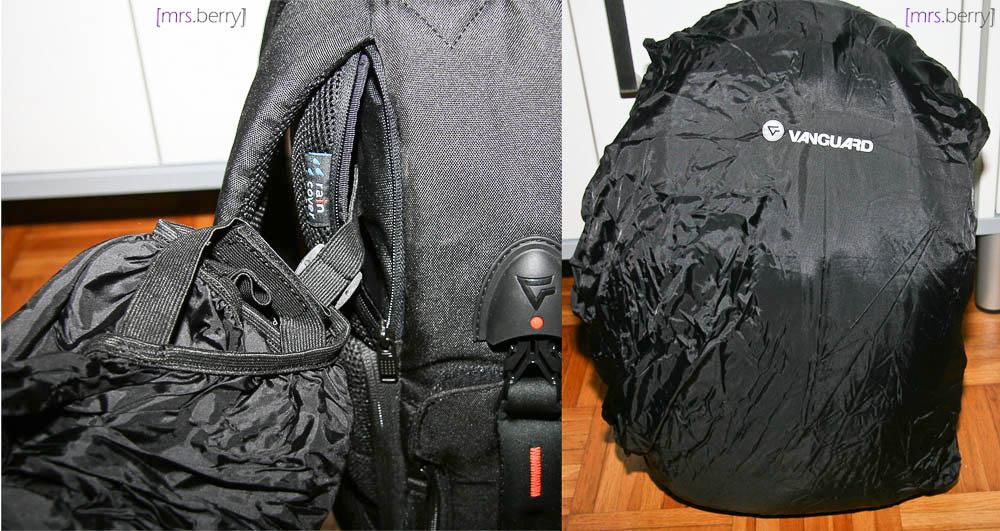 Vanguard UP-Rise 45: versteckte Regenschutzhülle