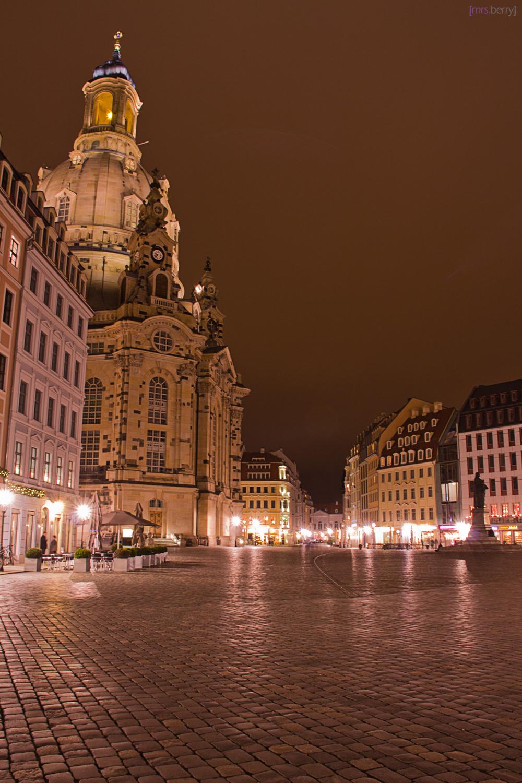 Dresden bei Nacht - die Frauenkirche