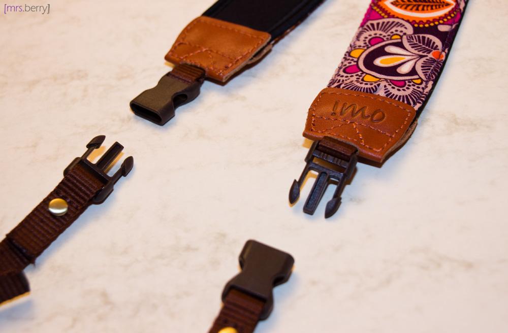 IMO - Purple Damask Strap mit abnehmbaren Enden durch Klickschnallen