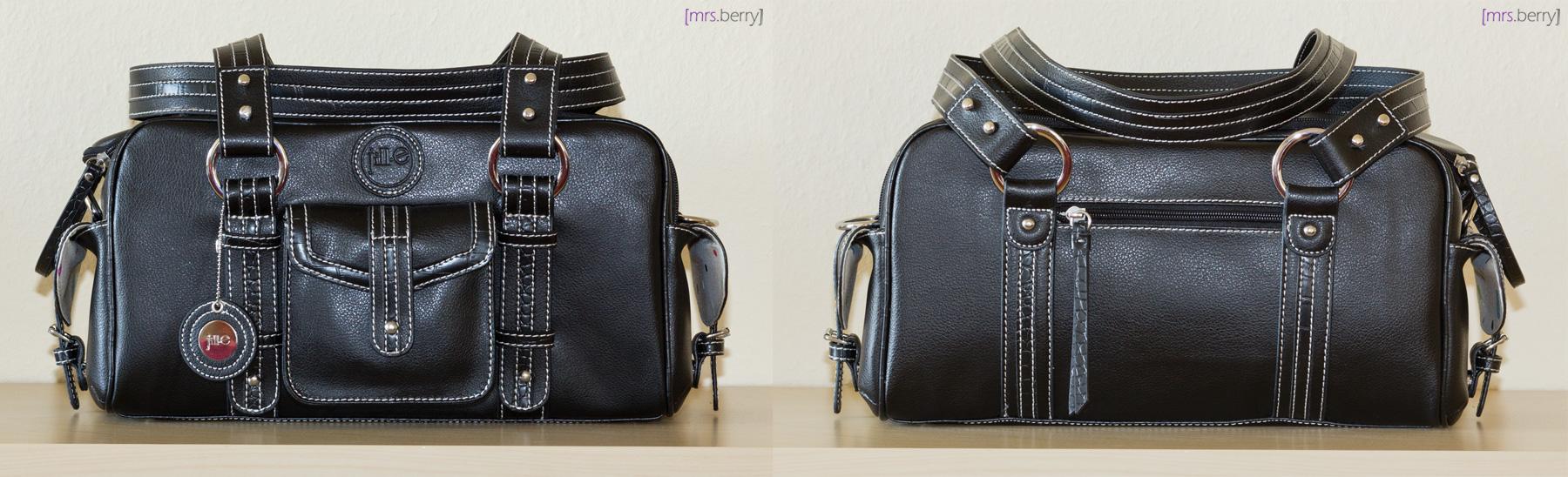 Jill-e Designs Kamera-Handtasche: Small Black Leather Camera/Carry-All Bag