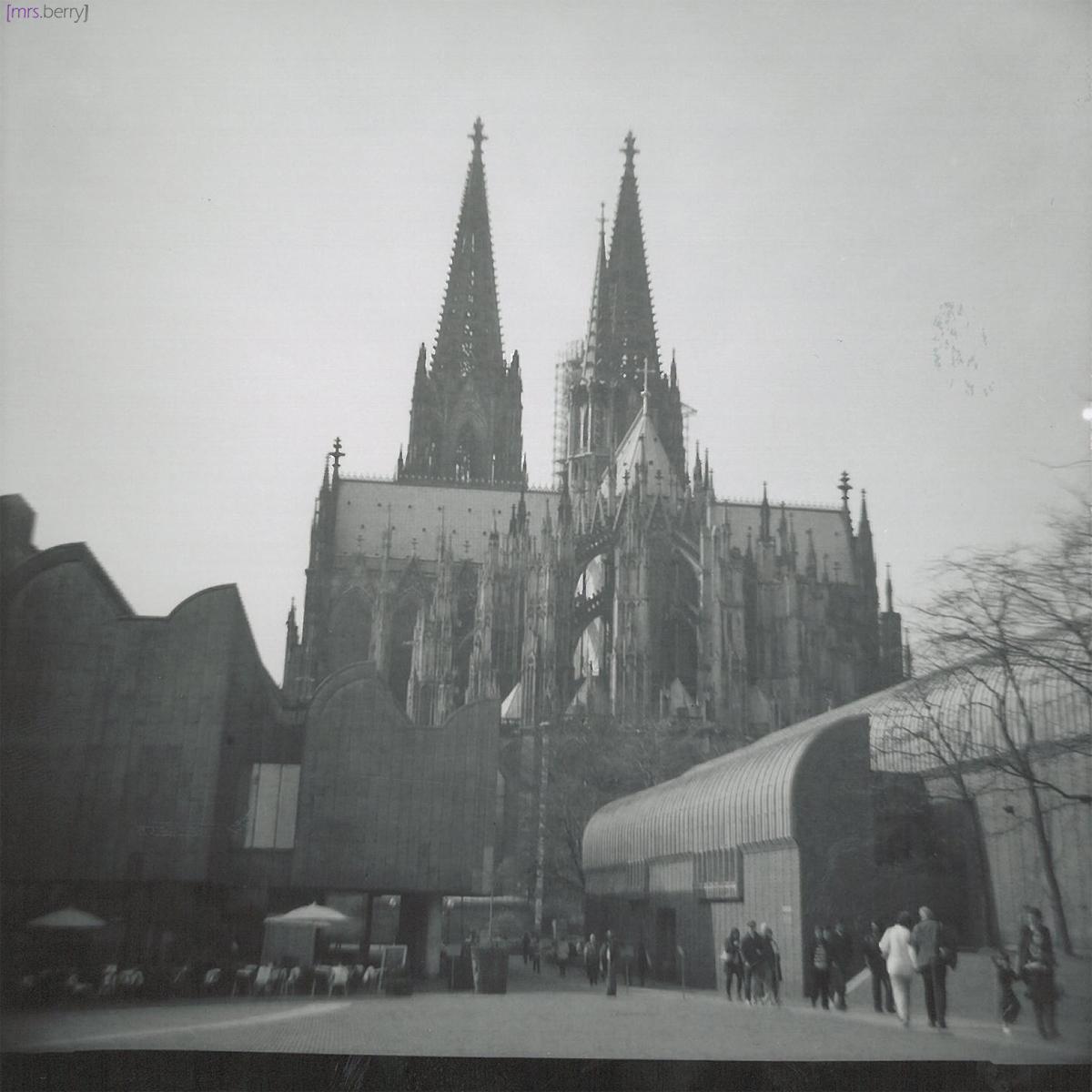 Lomografie Cologne: Rückseite des Doms