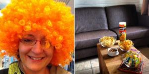 Fussball Accessoires in Holland Oranje & Fernseh Snacks