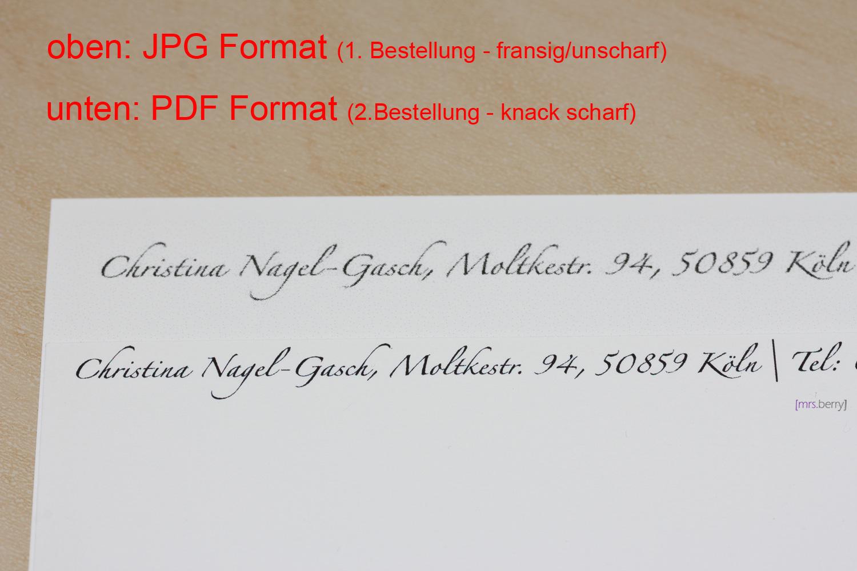Postkarten Druckqualität von MOO