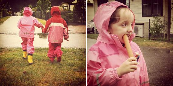 Heelderpeel bei Regenwetter - gut geschützt schmeckt auch die Wurst