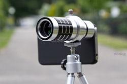 iPhone Kamera mit Rollei 12x Tele-Objektiv