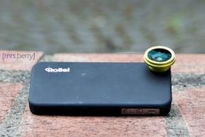 Rollei 0,28x Fisheye-Objektiv für Apple iPhone 4/4S grün