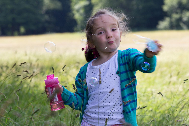 Seifenblasen Portrait - Schleuderblasen