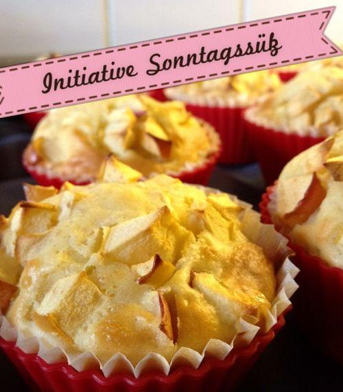 [Initiative Sonntagssüß] schnelle Apfel-Muffins