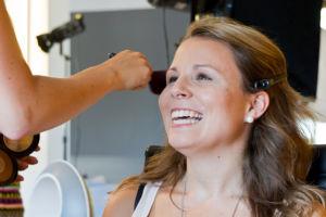 bts Gillette Venus Event: Gewinnerin Mareen in der Maske