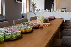 behind-the-scenes beim Gillette Venus Event: leichter Brunch