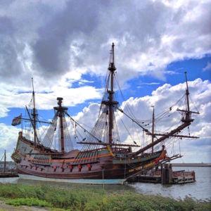 Nachbau des niederländischen Segelschiffes Batavia