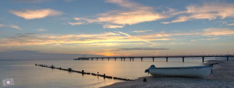 Sonnenaufgang am Strand von Bansin, Usedom