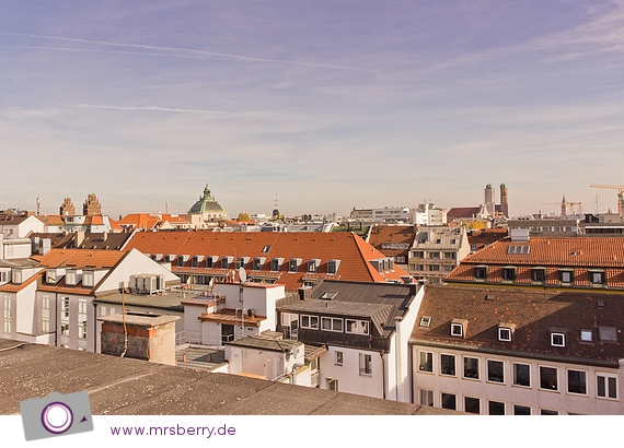 Aussicht vom Dach des Hotal Cristal in München