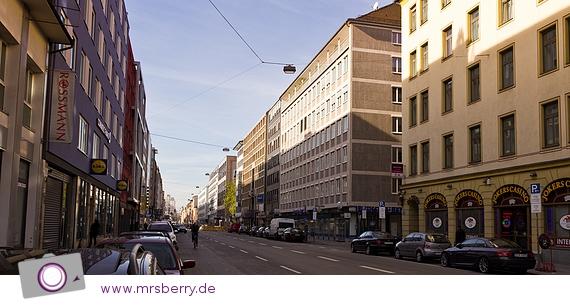 Die Schwanthalerstraße in München - im südlichen Bahnhofsviertel