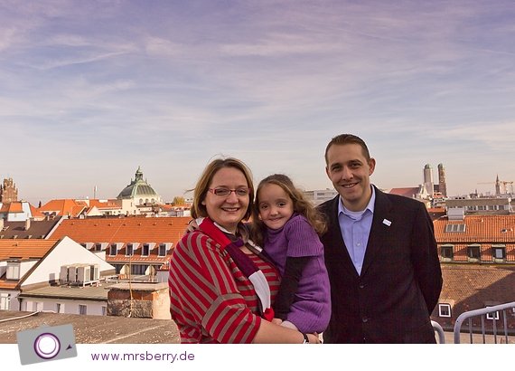 Aussicht vom Dach des Hotal Cristal in München mit Alexander Egger