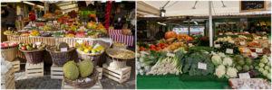 Obst und Gemüse auf dem Viktualienmarkt in München