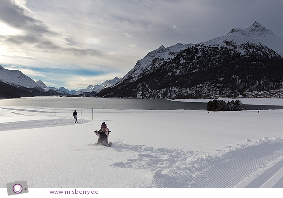 Lieblingsbeschäftigung: im Schnee spielen