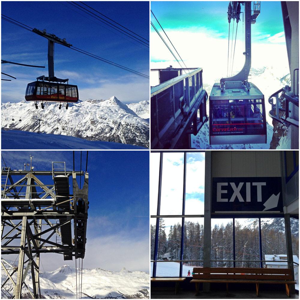 Mit der Corvatsch Bergbahn geht es auf 3303m Höhe