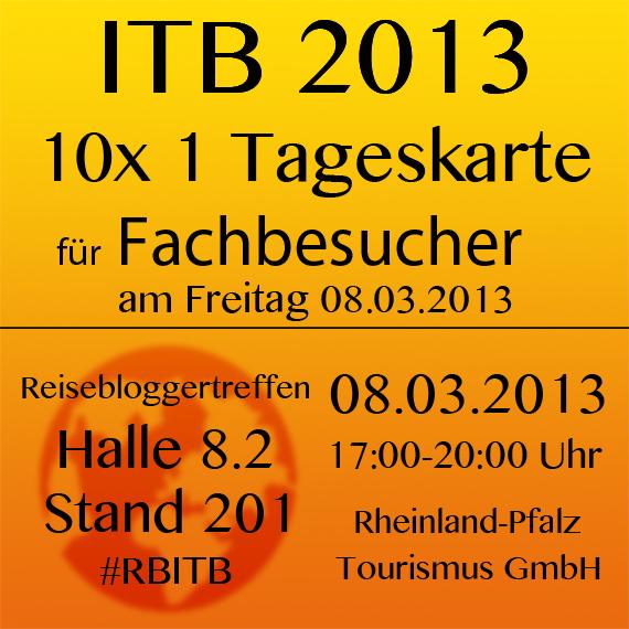 ITB 2013: 10x 1 Tageskarte für Reiseblogger