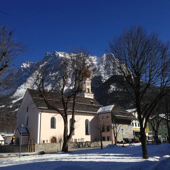 Pfarrkirche in Ehrwald, Österreich