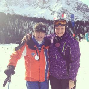 Skilehrer Toni und ich