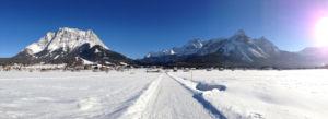 Panorama vom Ehrwalder Moos - links die Zugspitze