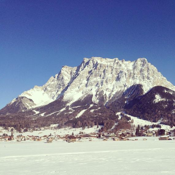 Die Zugspitze von der Tiroler Seite