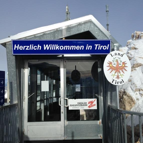 Zugspitze 'TOP OF GERMANY' - zwischen Bayern und Tirol
