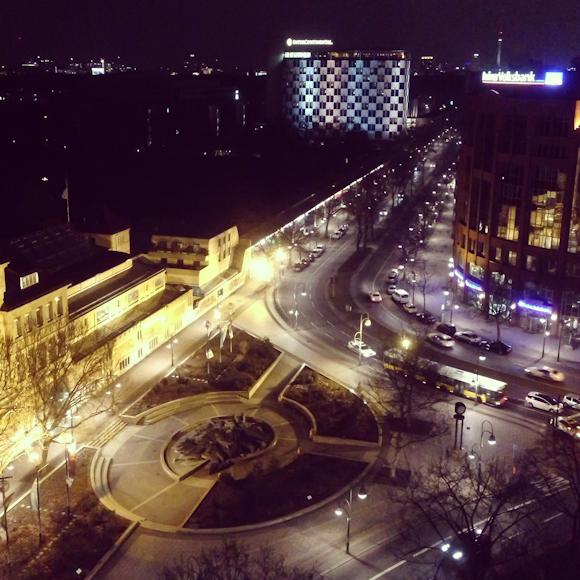Berlin bei Nacht von der PanAm Suite