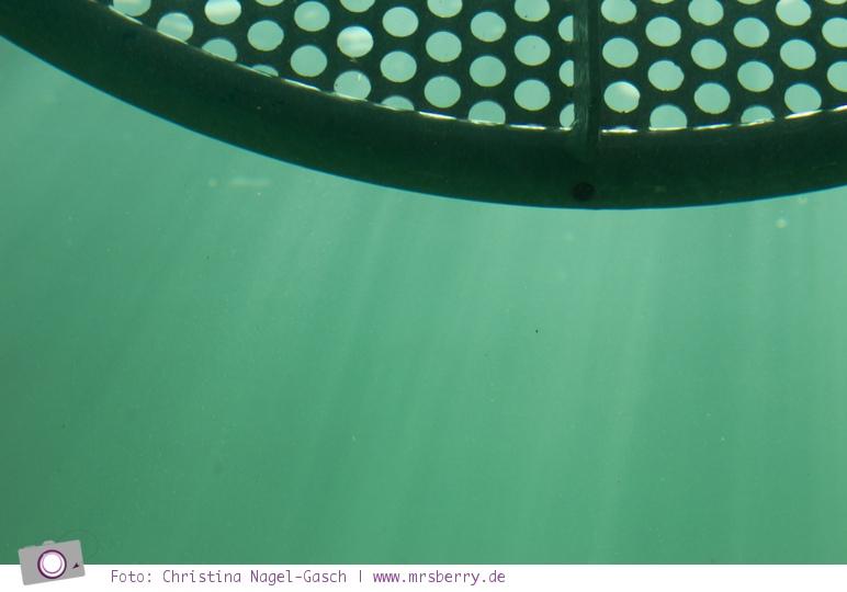 Tauchgondel in Grömitz: Sonnenstrahlen im Meer
