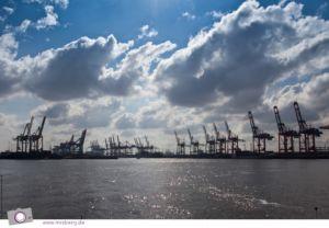 Hamburg - Hafenrundfahrt - Hafenkräne