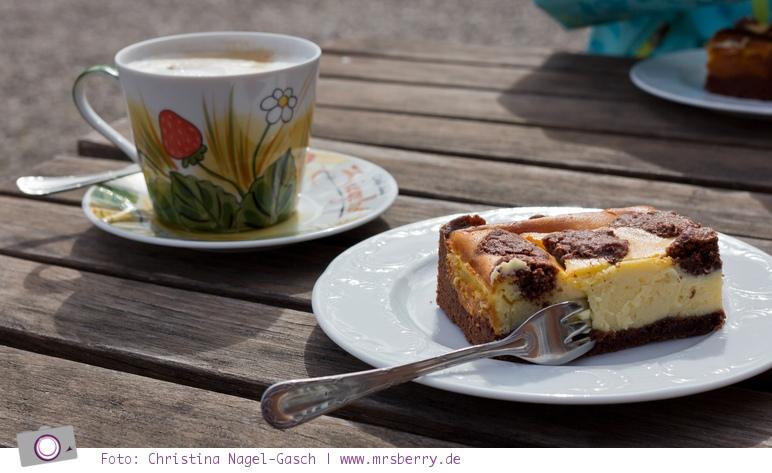 Hof Mougin: leckerer hausgemachter Kuchen im Hof Café