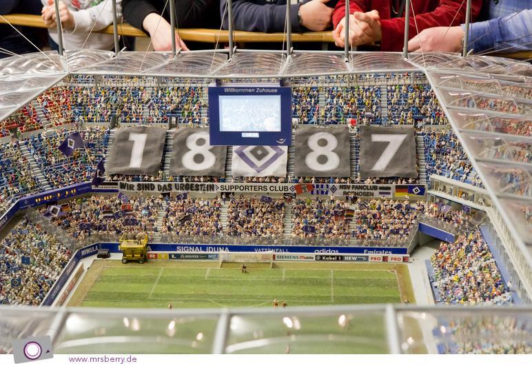 Miniaturwunderland in Hamburg - Imtech Arena mit dem Derby Hamburger SV - FC St. Pauli