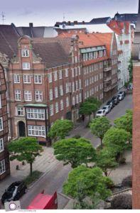 Aussicht vom Zimmer im Hotel Lindner am Michel