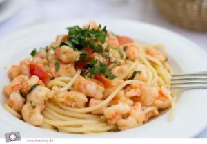 Spaghetti Scampi bei Cuneo
