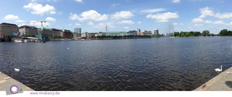 Die Binnenalster in Hamburg