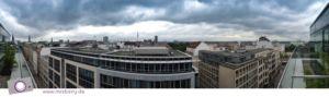 Panorama Ausblick aus der Suite des Hotel Barceló in Hamburg