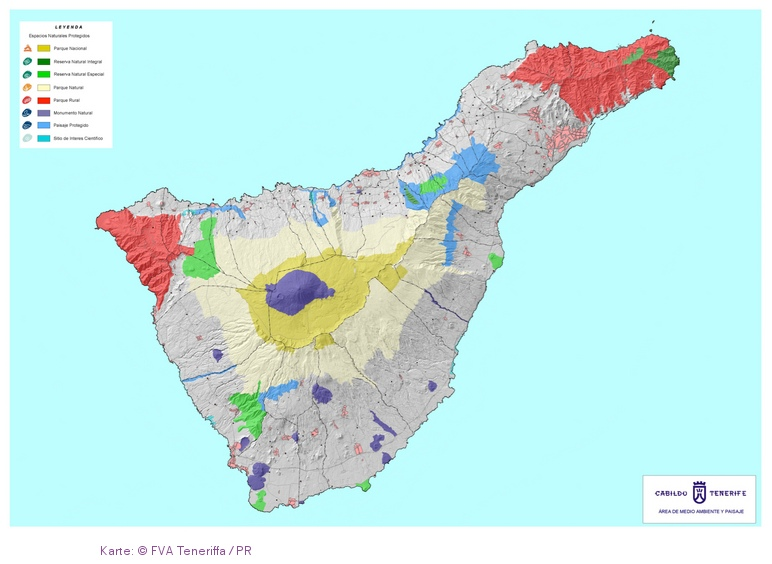 Karte: Teneriffa sieht aus wie eine Ente © FVA Teneriffa