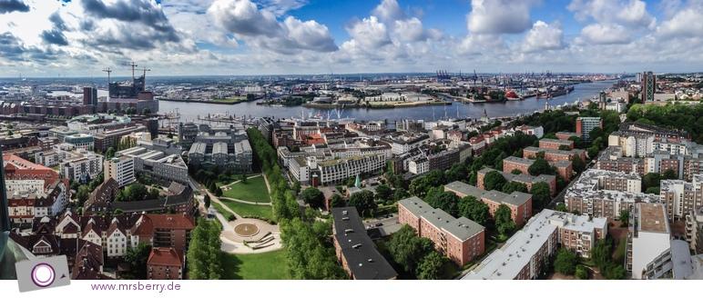 Aussicht vom Michel auf Hamburg