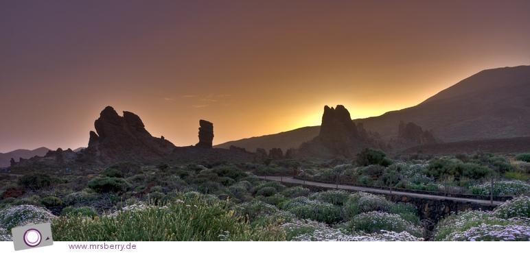 Sonnenuntergang hinter den Roques de García