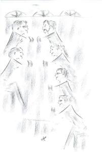 """Die Zeichnung vom """"Alle-mal-malen-Mann"""" von Bonn - Jan Loh"""