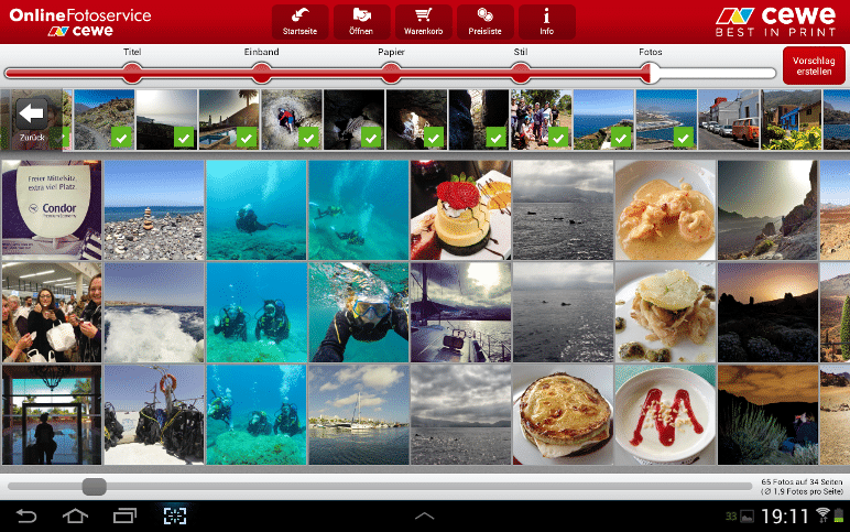 CEWE Fotowelt APP im Test - Fotos