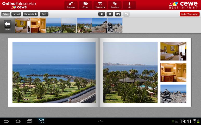 CEWE Fotowelt APP im Test - Seiten