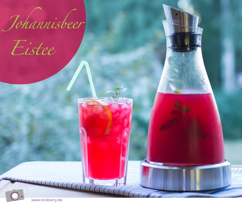 Fruchtiger Johannisbeer-Eistee