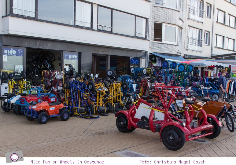 Urlaub in Belgien: Nico Fun on Wheels Kettcars
