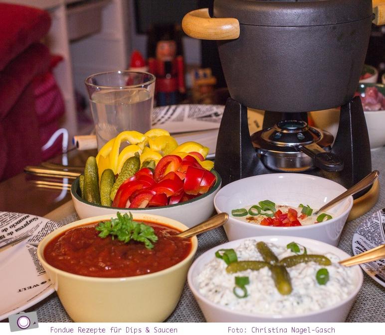 Silvester Fondue: Rezepte für Dips & Saucen