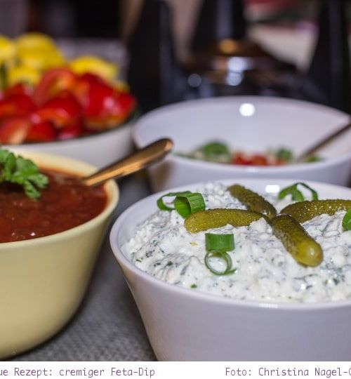 Silvester Fondue: Rezept für cremigen Feta-Dip