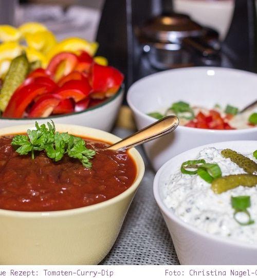 Silvester Fondue: Rezept für Tomaten-Curry-Dip