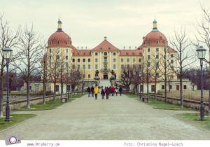 Schloss Moritzburg als Drehort für das Märchen Drei Haselnüsse für Aschenbrödel