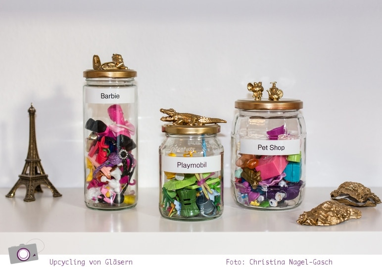 DIY Trend Upcycling: Spielzeug im Glas